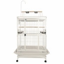 """Play Top Bird Cage with 1"""" Bar Spacing - White (36""""x28""""x66"""")"""