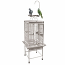 """Play Top Bird Cage with 5/8"""" Bar Spacing - White (18""""x18""""x54"""")"""