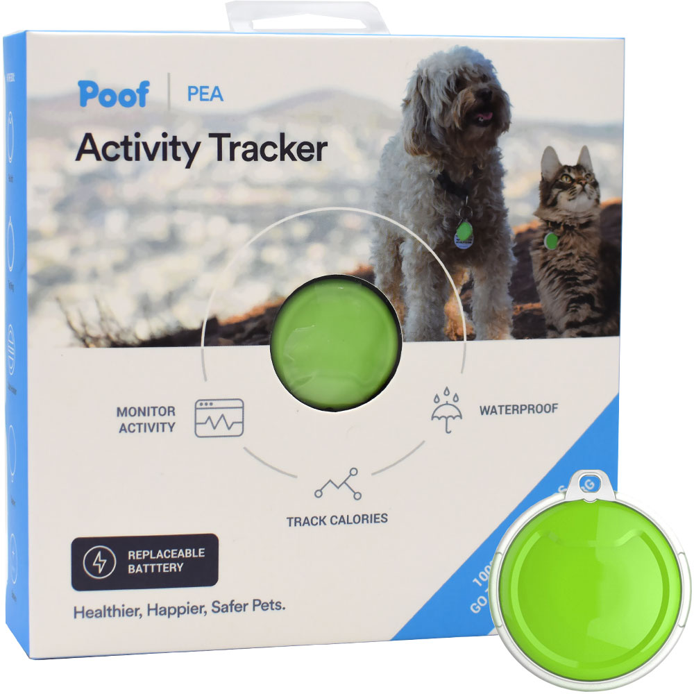 Poof Pet Tracker - Pea - Lime - For Dogs - from EntirelyPets