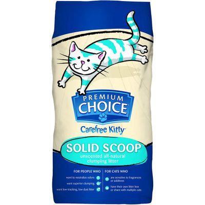 Premium Choice Unscented Solid Scoop Clumping Cat Litter (40 lb)