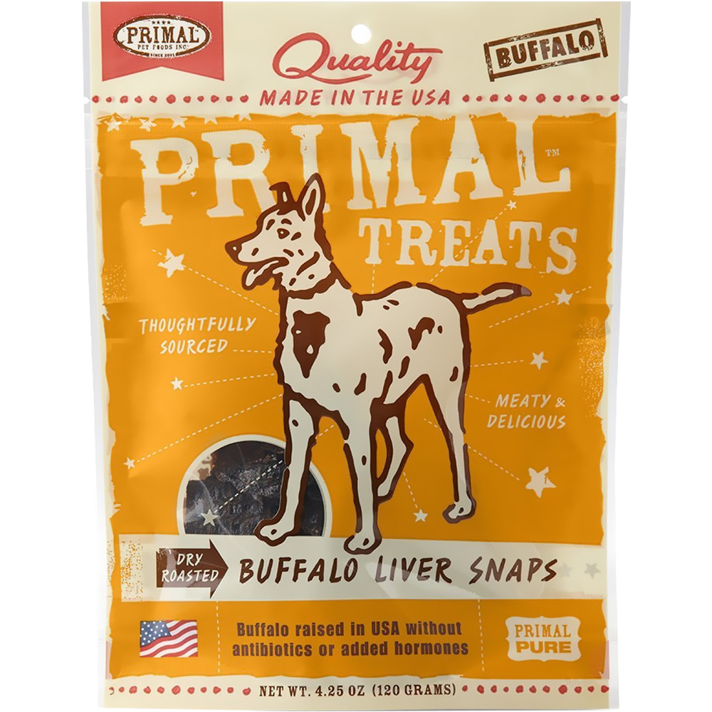 Primal Treats Dry Roasted Buffalo Liver Snaps (5 oz) im test