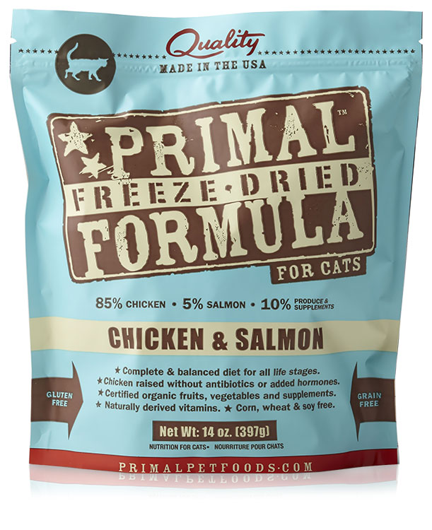Image of Primal Freeze Dried Chicken & Salmon Cat Food (14 oz)