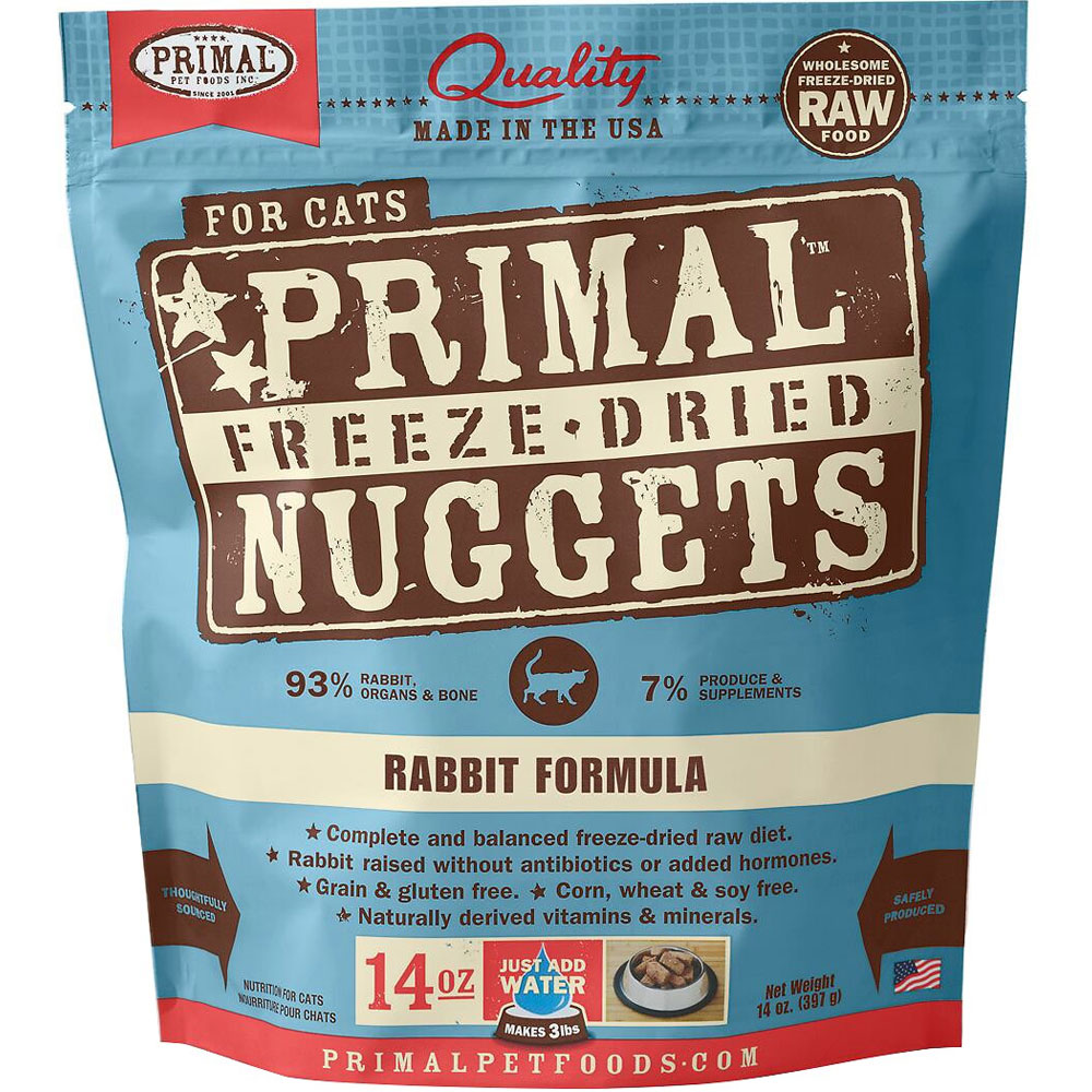Primal Freeze Dried Nuggets for Cats - Rabbit Formula (14 oz) im test