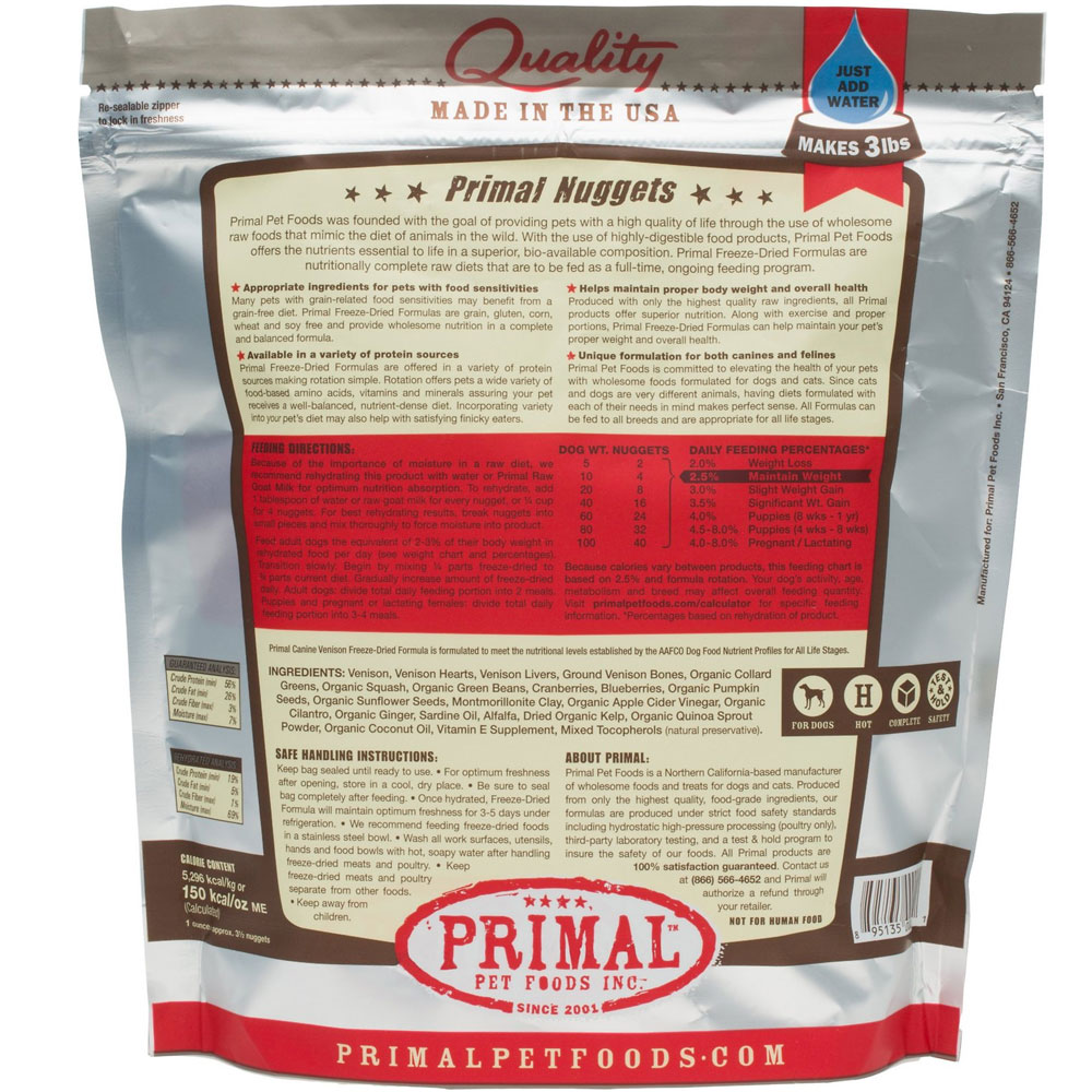 PRIMAL-FREEZE-DRIED-VENISON-DOG-FOOD-14OZ