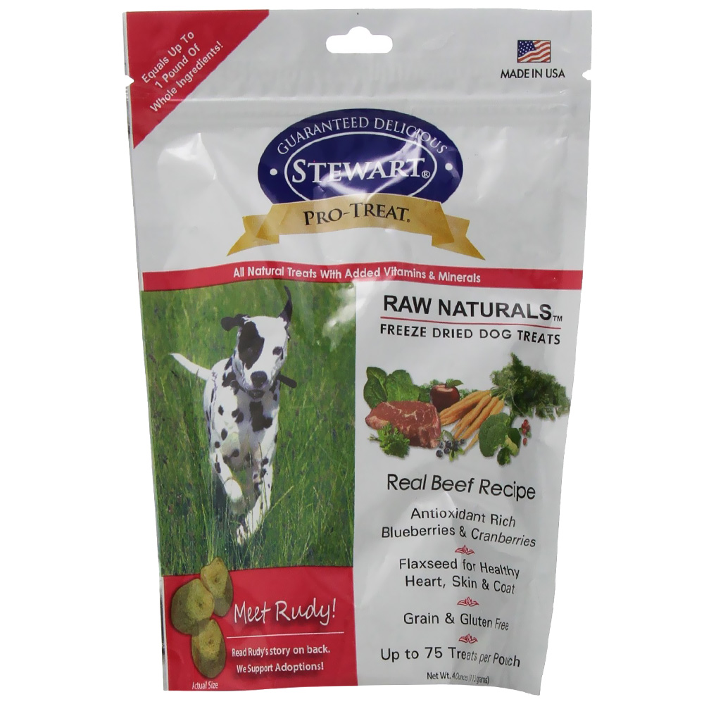 Stewart Raw Naturals Freeze Dried Dog Treats - Real Beef (4 oz)