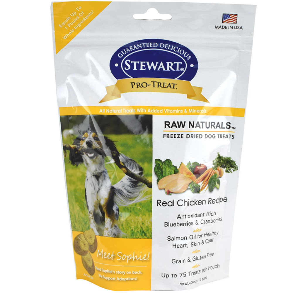Stewart Raw Naturals Freeze Dried Dog Treats - Real Chicken (4 oz) im test