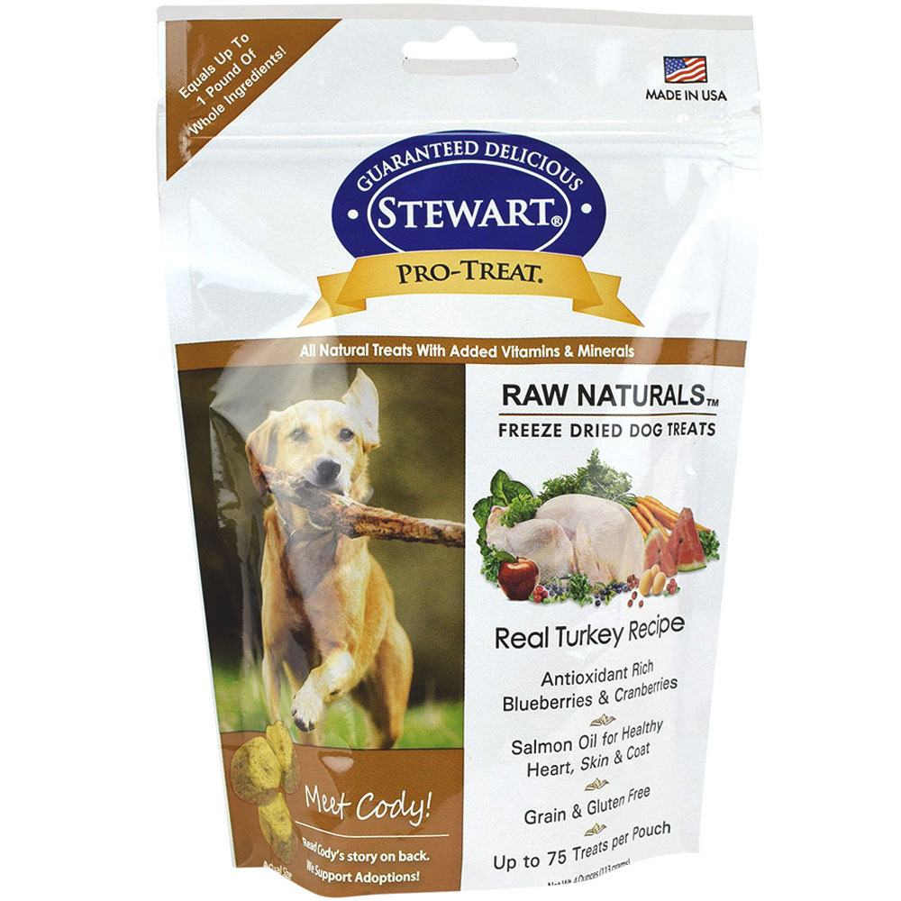 Stewart Raw Naturals Freeze Dried Dog Treats - Real Turkey (4 oz) im test