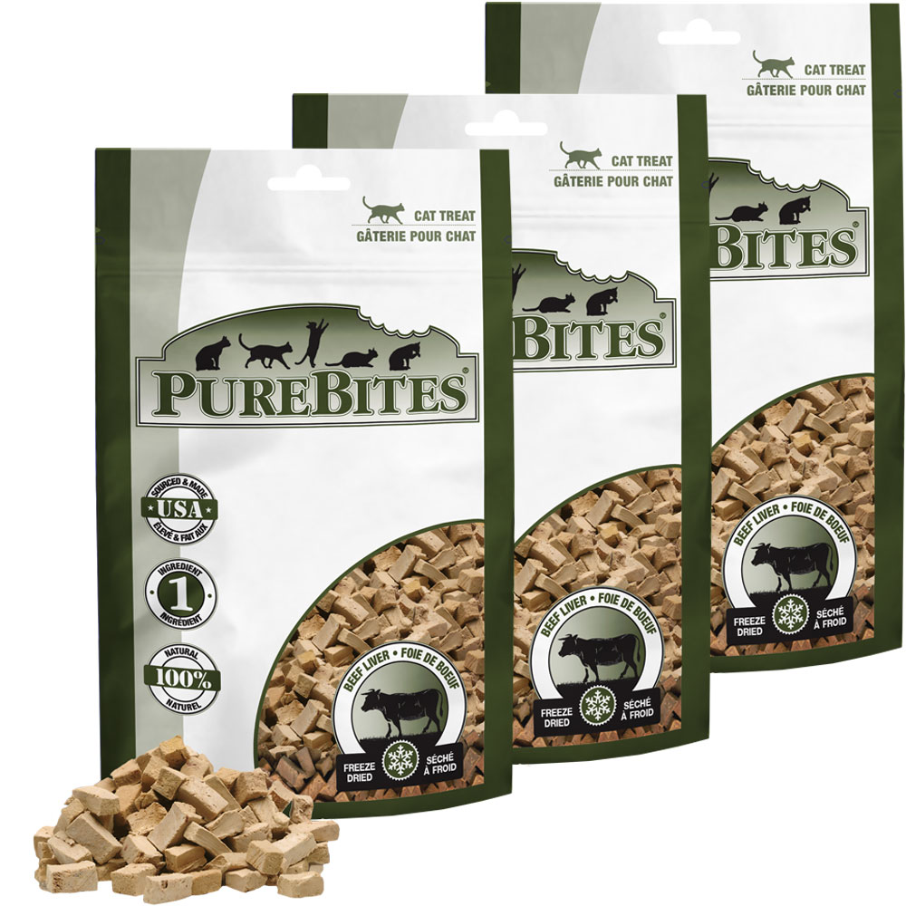 Purebites Beef Liver Cat Treat - 3-Pack (2.55 oz) im test