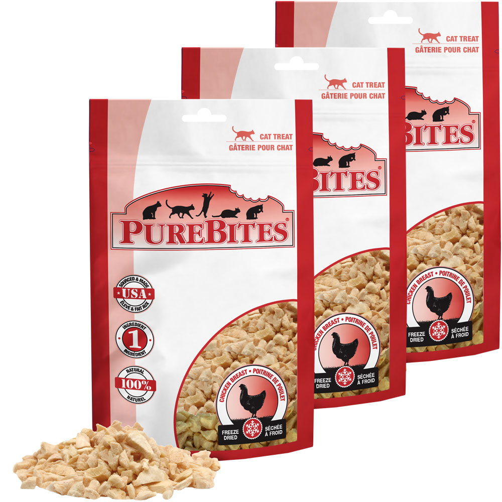 PureBites Chicken Breast Cat Treats 3-Pack (1.80 oz) im test