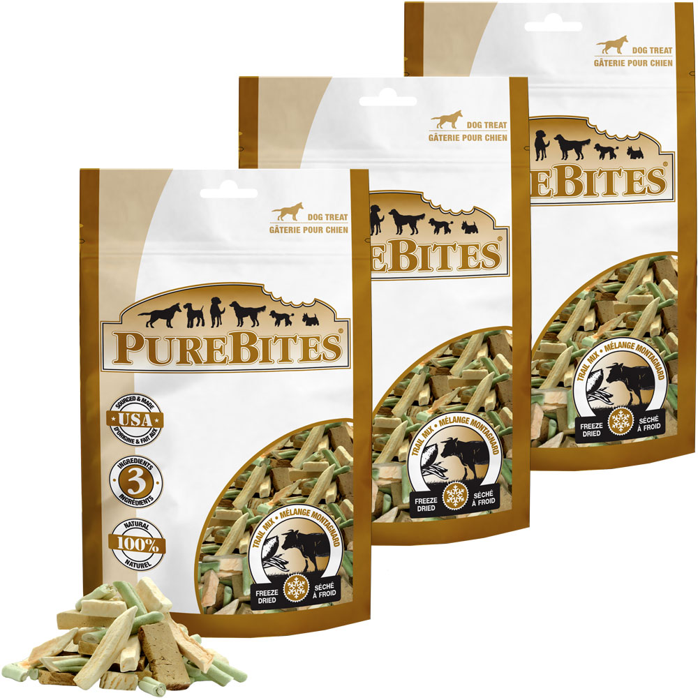 PureBites Trail Mix Freeze-Dried Treats for Dogs - 3 PACK (9.75 oz)