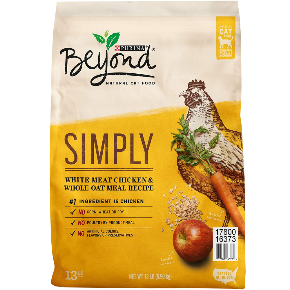 Purina Beyond Cat Food >> Purina Beyond Simply White Meat Chicken Whole Oat Meal Recipe Dry Cat Food 13 Lb