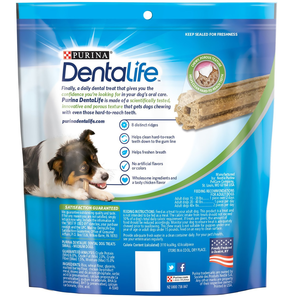 Purina Dentalife Oral Care Dog Treats - Small/Medium 17.9 ...