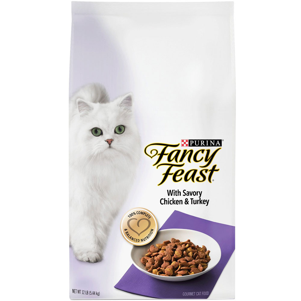 Purina Fancy Feast Savory Chicken Turkey Dry Cat Food 12 Lb On Sale Entirelypets