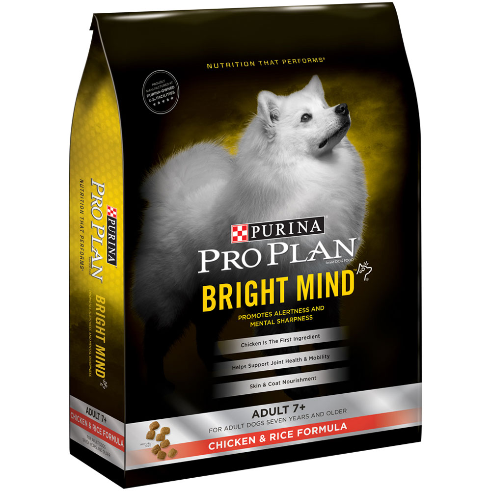 Purina Pro Plan Bright Mind - Adult 7+ Chicken & Rice Dry Dog Food (5 lb) im test