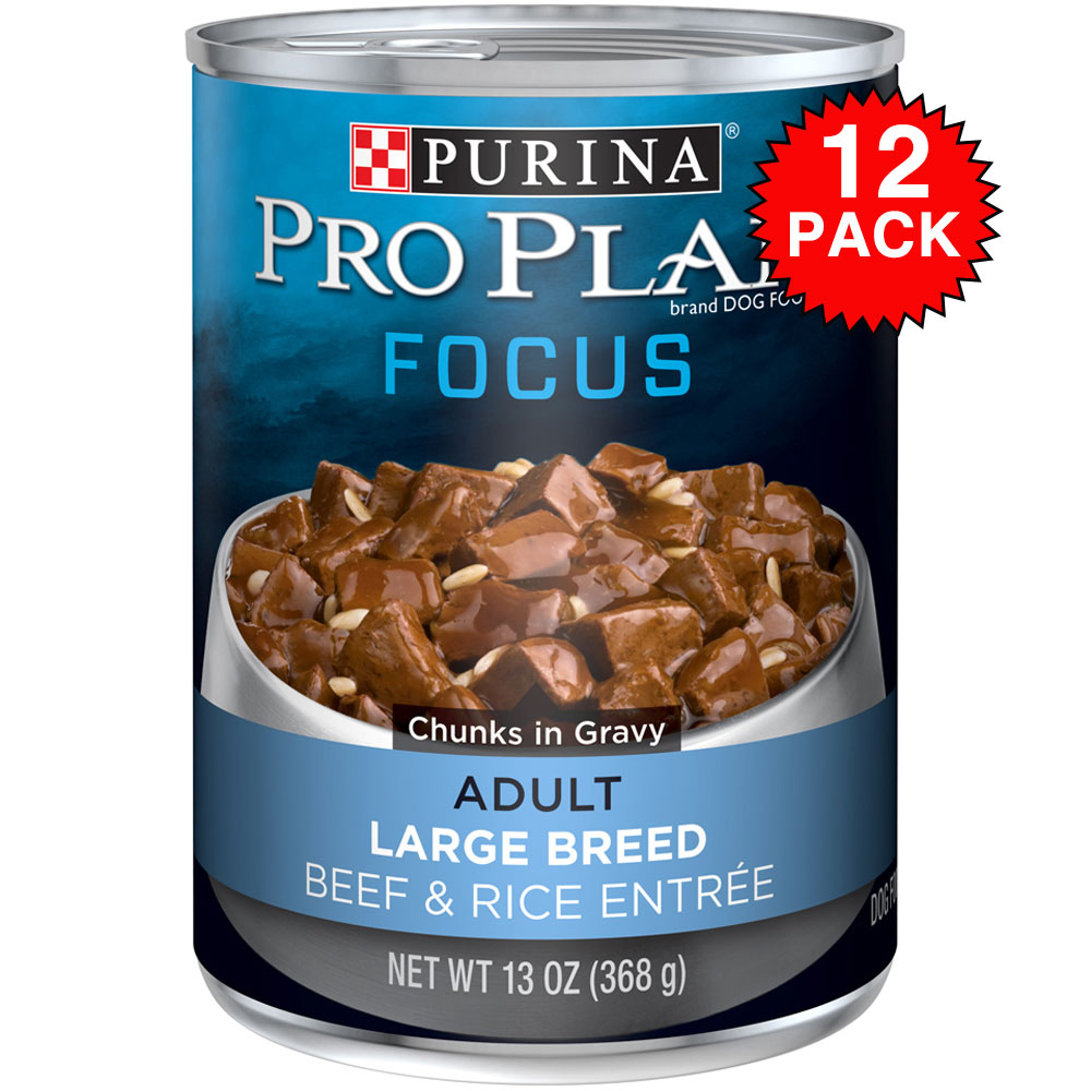 Purina Pro Plan Focus - Beef & Rice Entre Canned Large Breed Adult Dog Food (12x13oz) im test