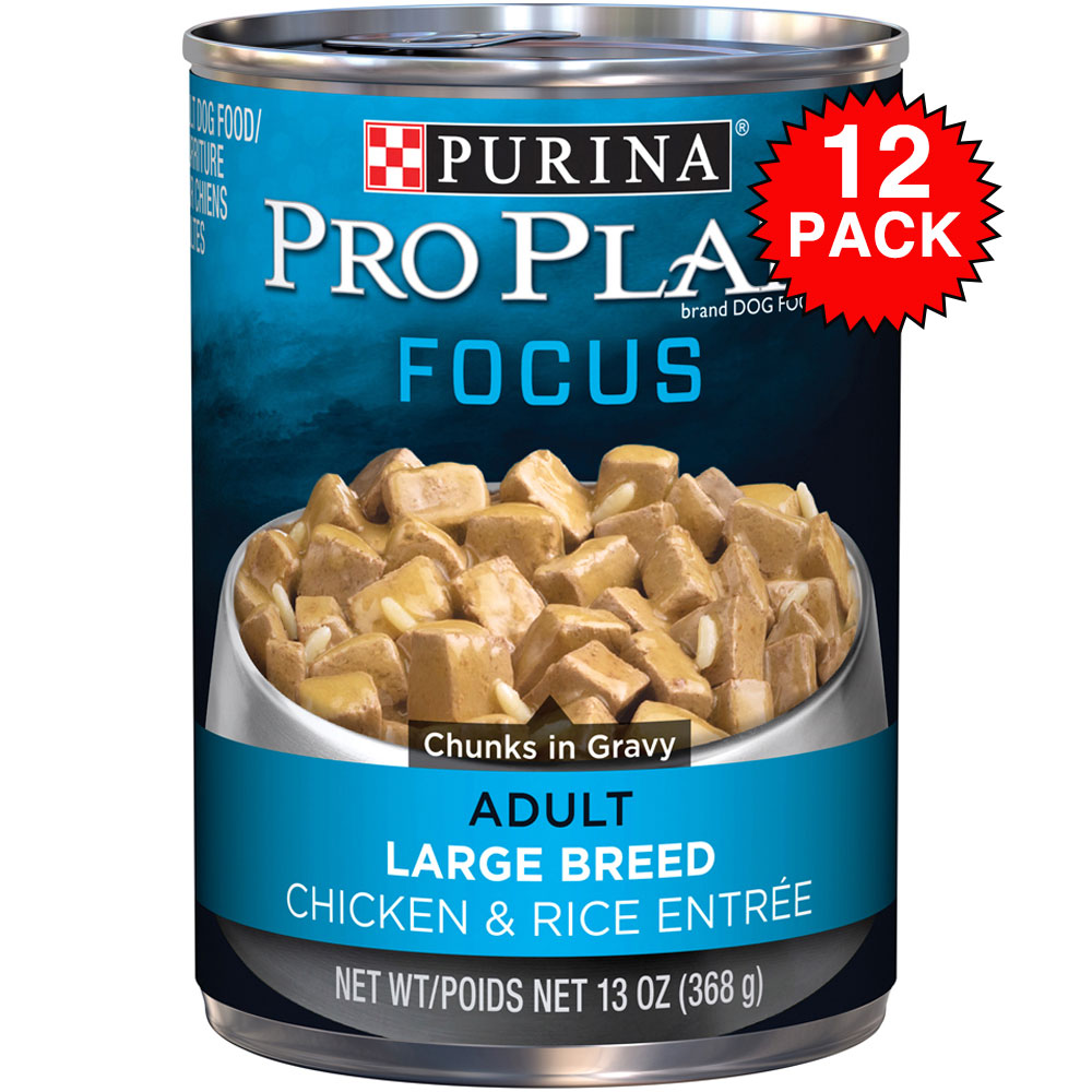 Purina Pro Plan Focus - Chicken & Rice Entre Canned Large Breed Adult Dog Food (12x13oz) im test