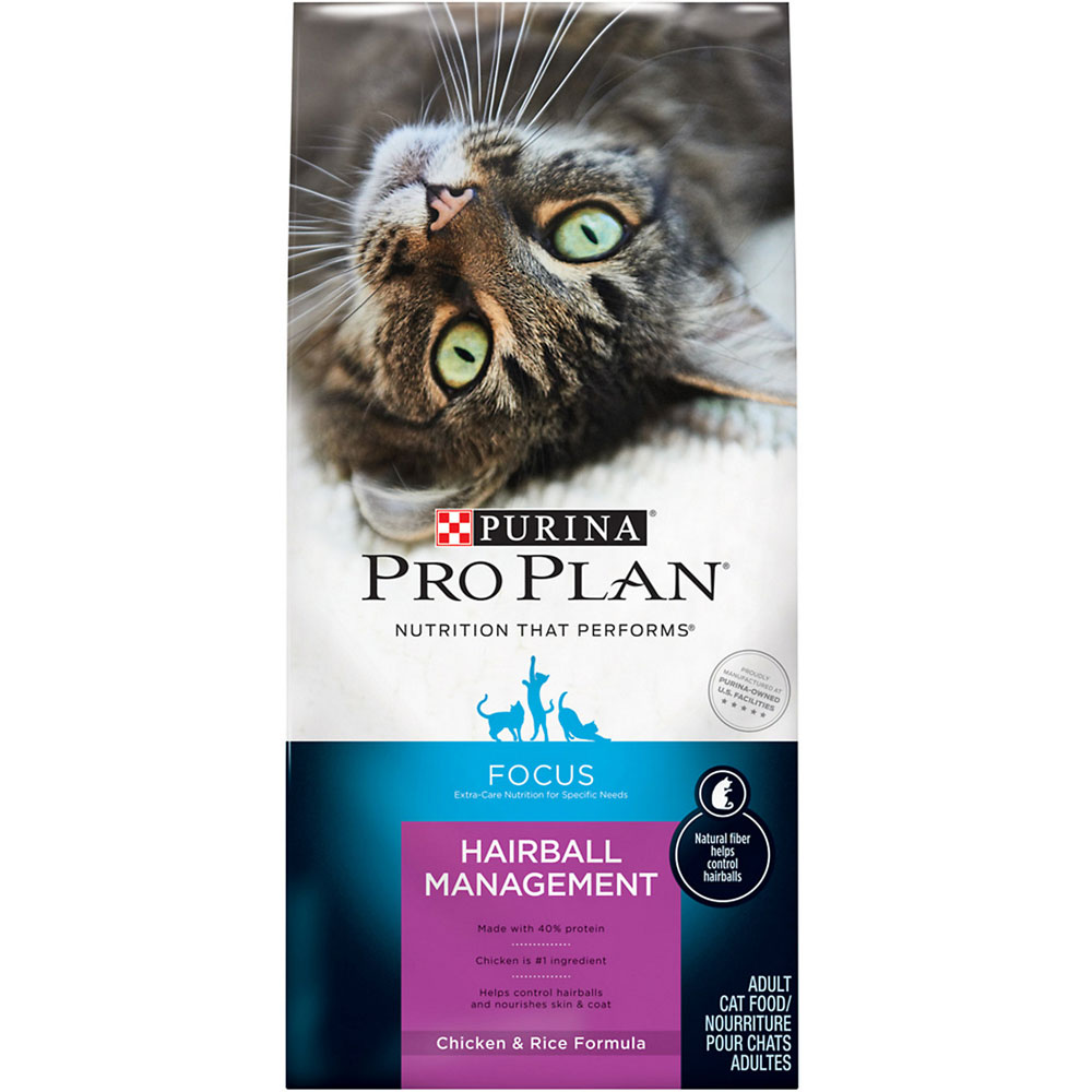 Purina Pro Plan Focus - Hairball Management Chicken & Rice Dry Adult Cat Food (16 lb) im test