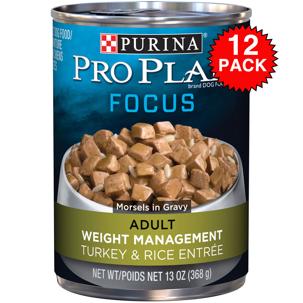 Purina Pro Plan Focus - Turkey & Rice Entre Canned Weight Management Adult Dog Food (12x13oz) im test