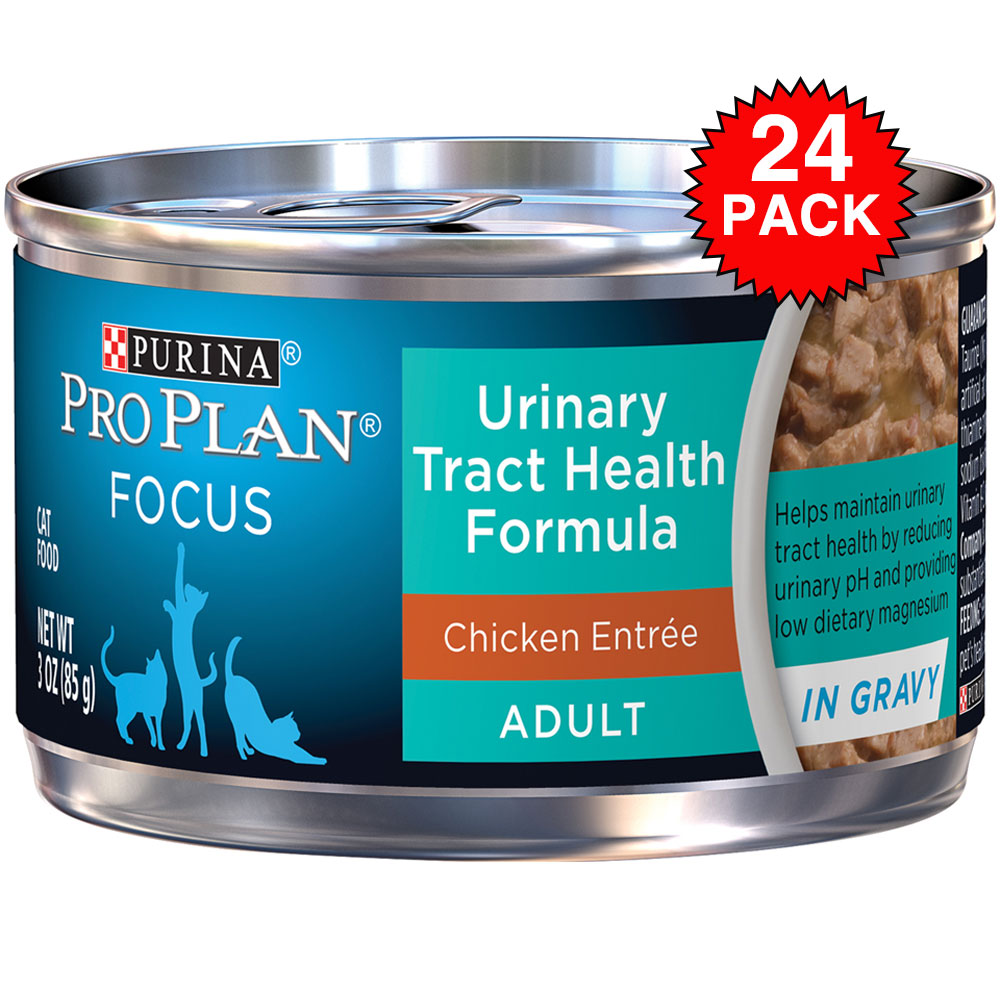Purina Pro Plan Focus - Urinary Tract Health Formula Chicken Entree Canned Adult Cat Food (24x3oz) im test