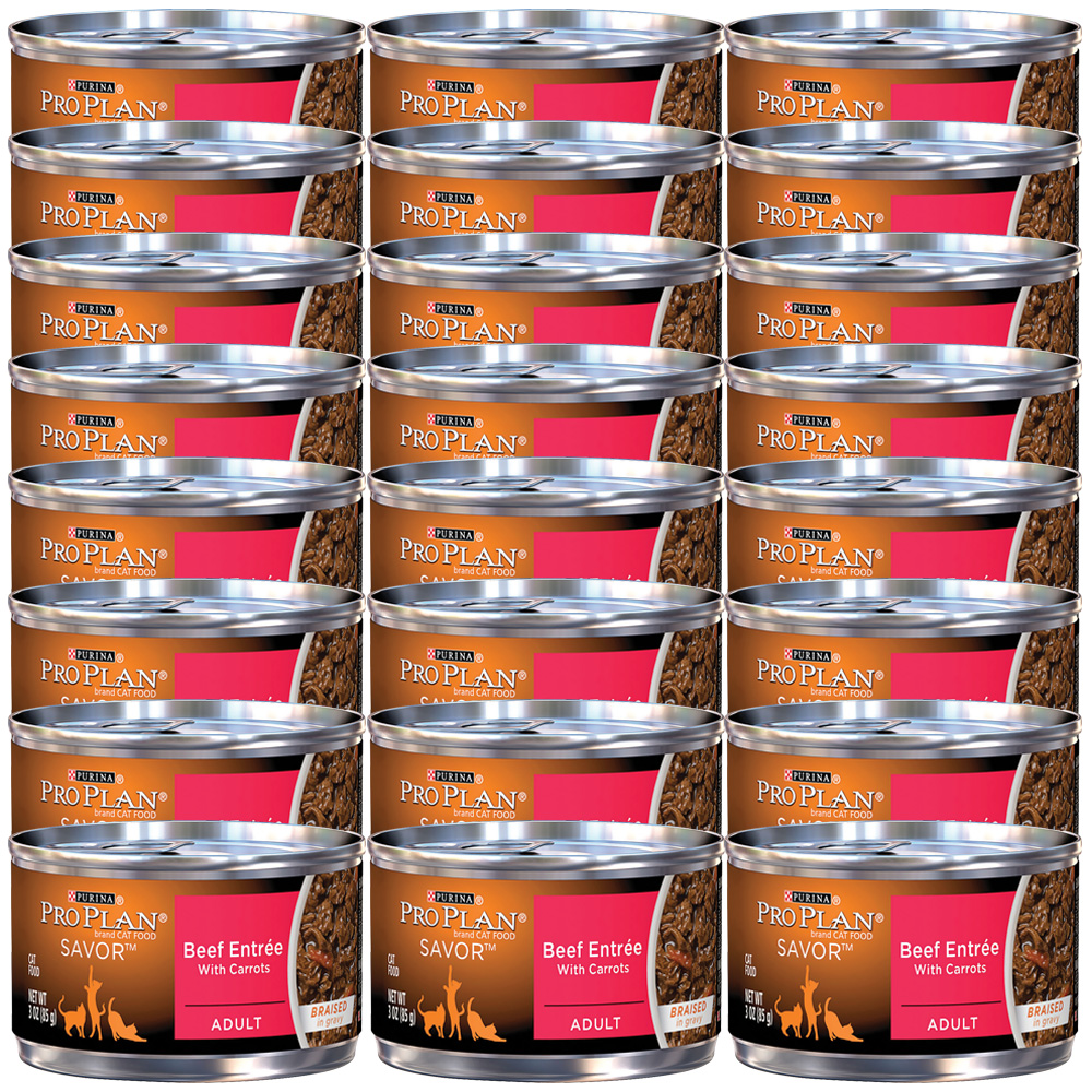 Purina Pro Plan Savor - Beef Entre with Carrots Canned Adult Cat Food (24x3oz) im test