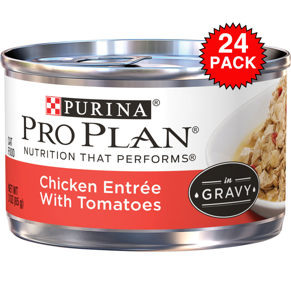 Purina Pro Plan Savor - Chicken Entre with Tomatoes Canned Adult Cat Food (24x3oz) im test