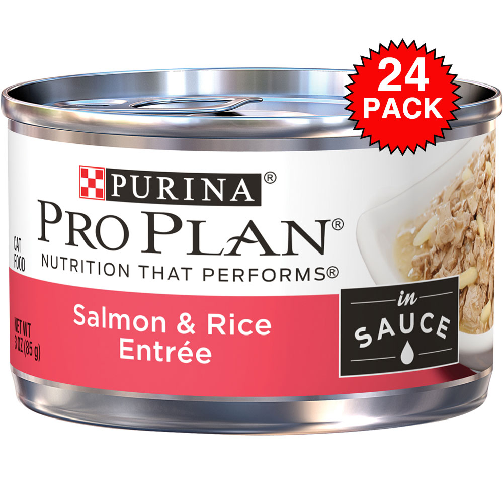 Purina Pro Plan Savor - Salmon & Rice Entre Canned Adult Cat Food (24x3oz) im test