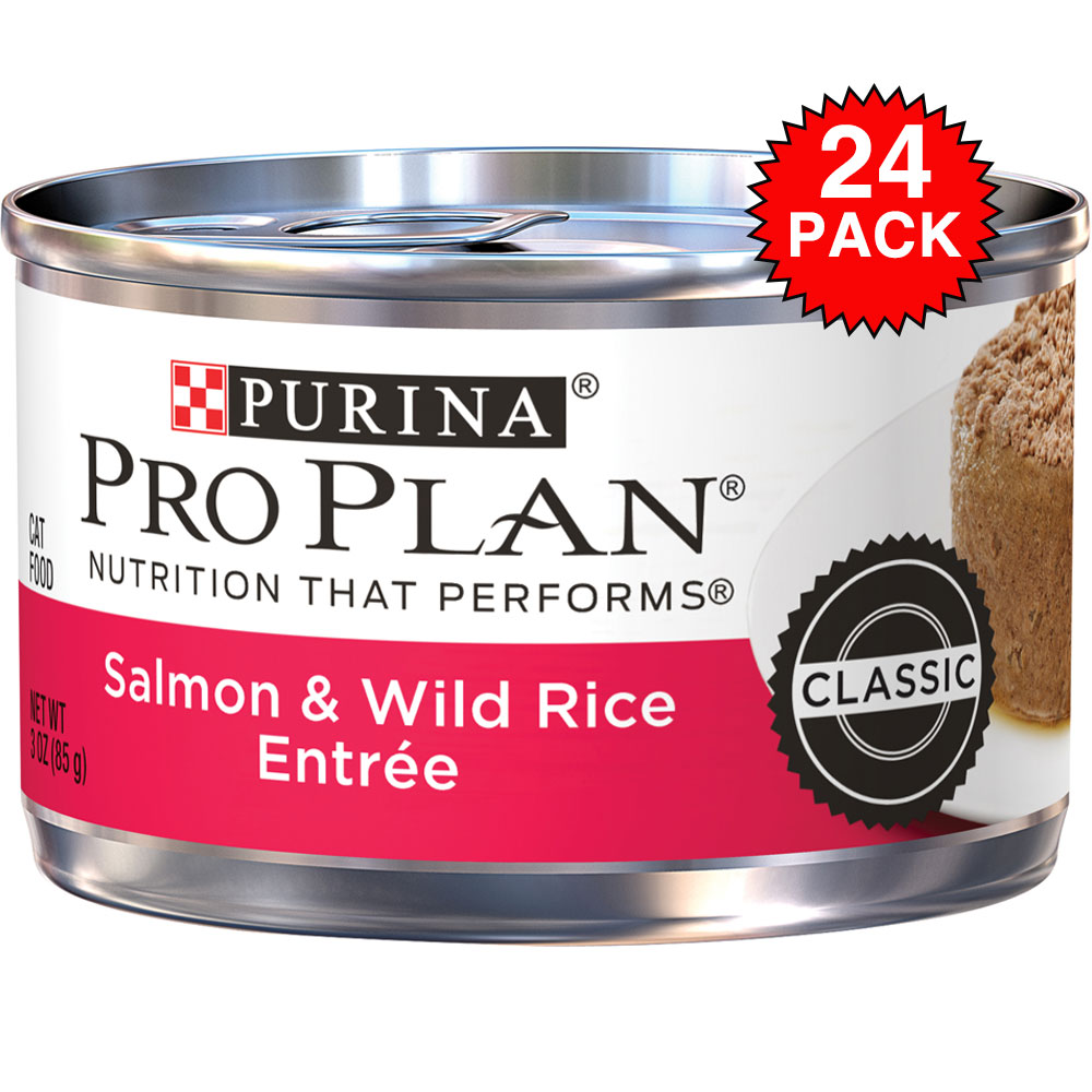 Purina Pro Plan Savor - Salmon & Wild Rice Entre Canned Adult Cat Food (24x3oz) im test