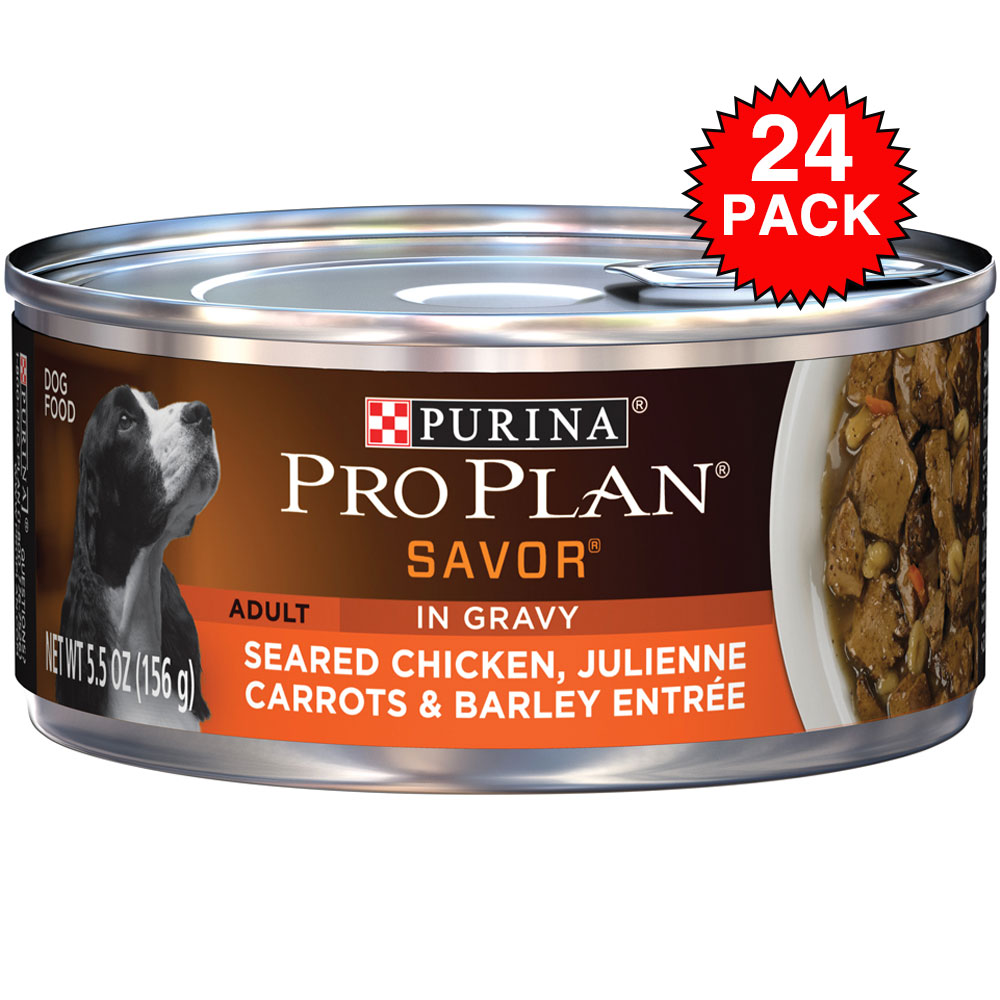 Purina Pro Plan Savor - Seared Chicken & Carrots Entre Canned Adult Dog Food (24x5.5oz) im test