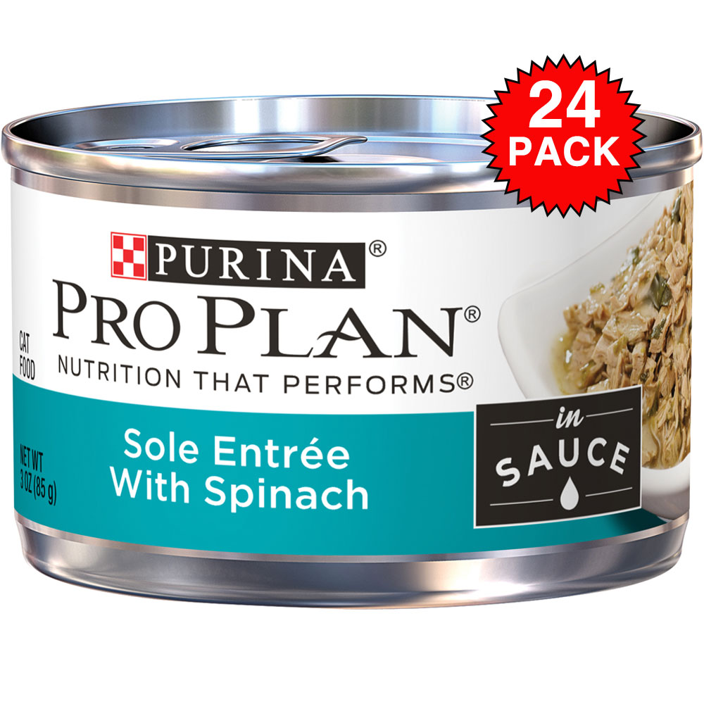 Purina Pro Plan Savor - Sole with Spinach Entre Canned Adult Cat Food (24x3oz) im test