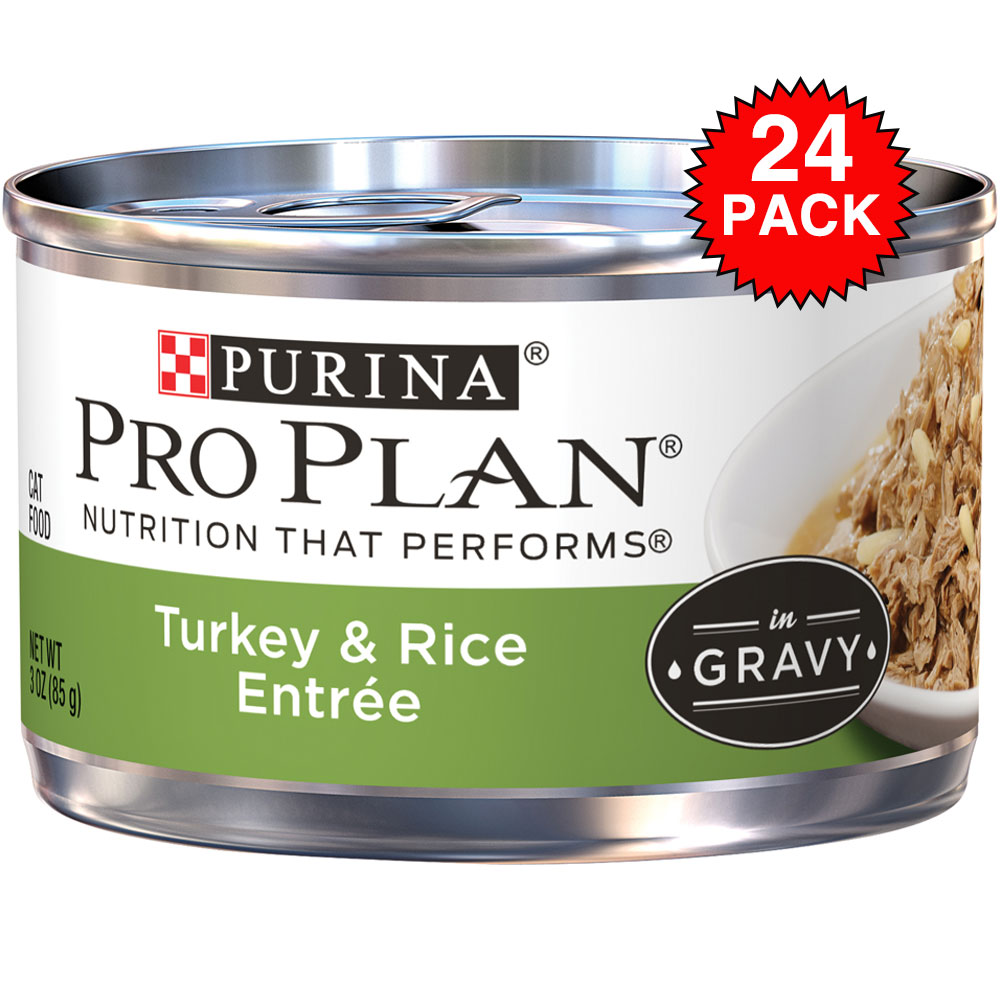 Purina Pro Plan Savor - Turkey & Rice Entre Canned Adult Cat Food (24x3oz) im test