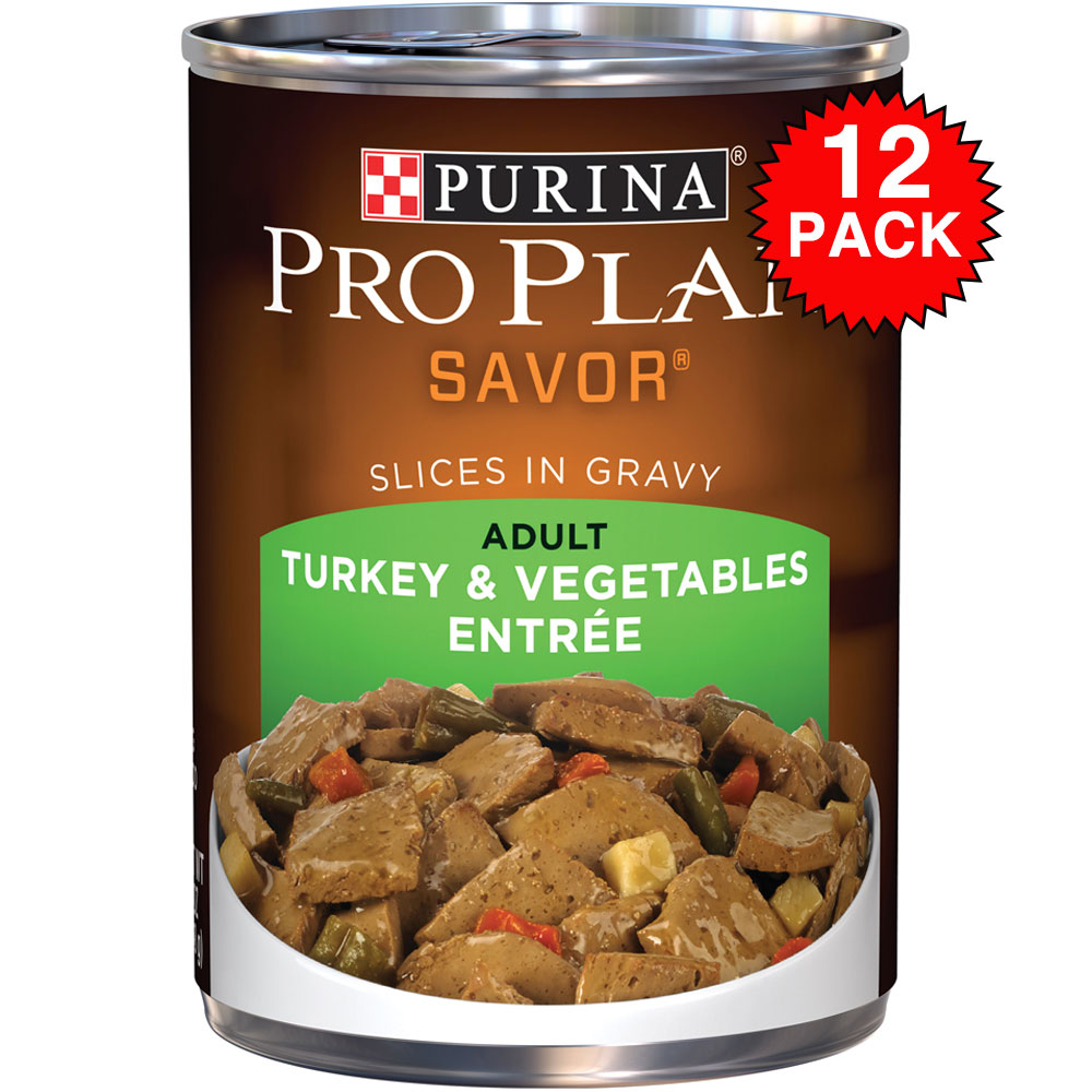Purina Pro Plan Savor - Turkey & Vegetable Entre Canned Adult Dog Food (12x13oz)