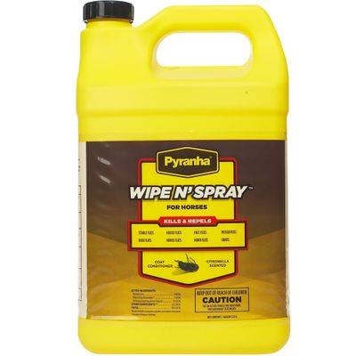 Pyranha Wipe N' Spray for Horses (Gallon)