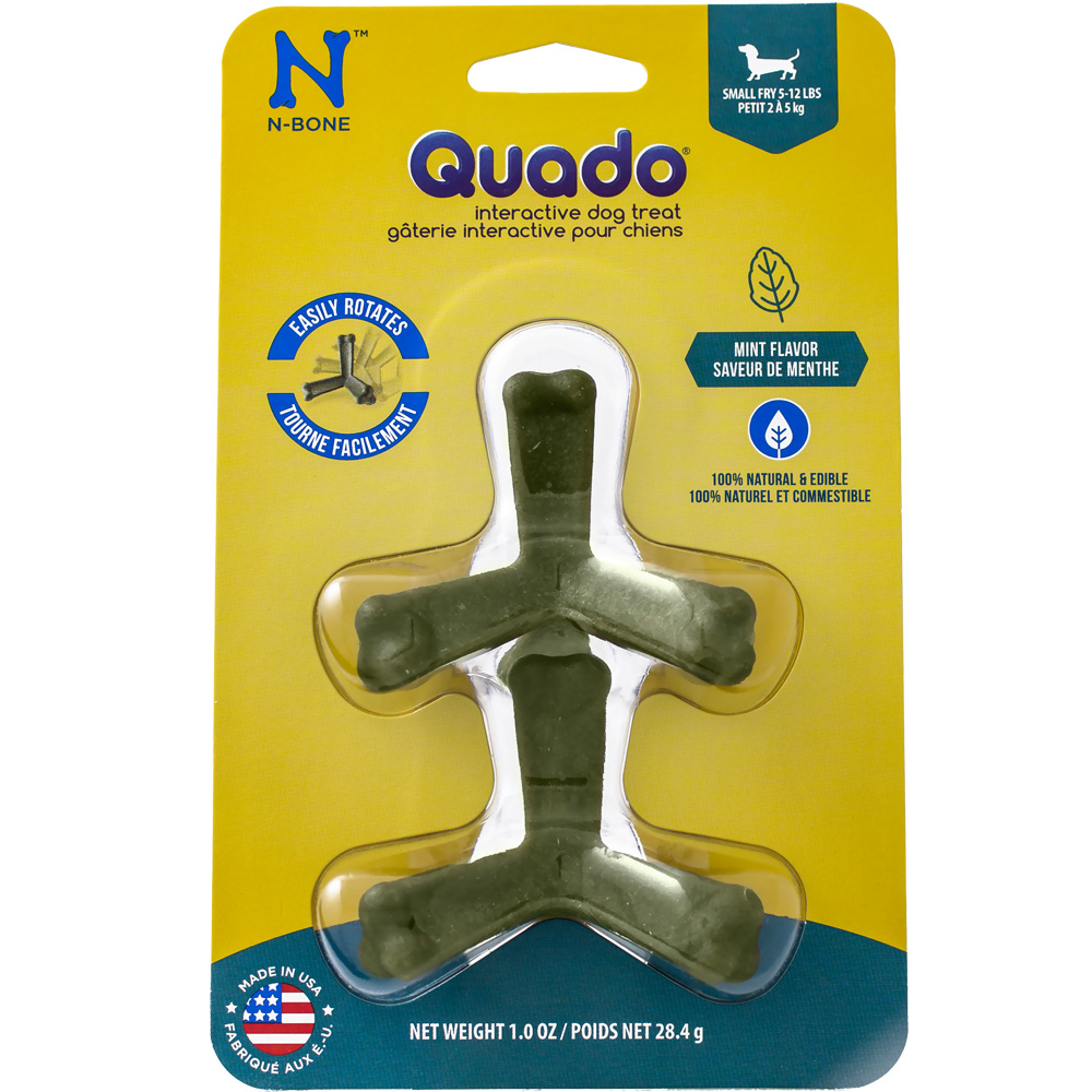 Quado Interactive Dog Treat Mint Flavor - Small Fry
