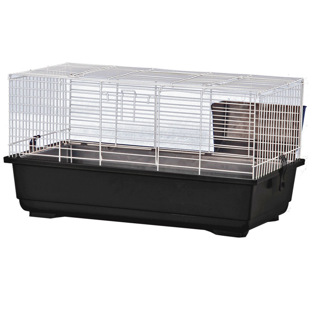 Rabbit Cage - Black - 39x22x18 - from EntirelyPets