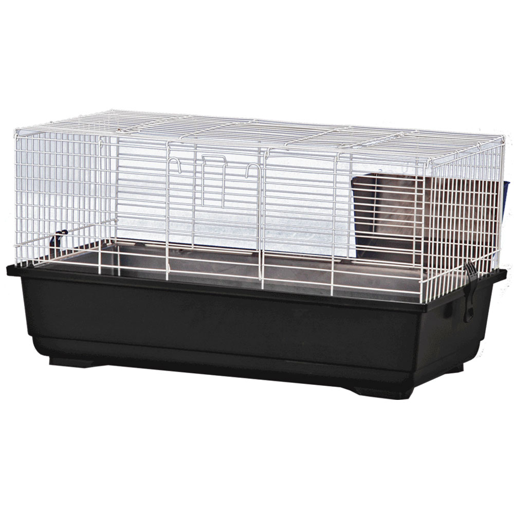 Rabbit Cage - Black - 47x23x20 - from EntirelyPets