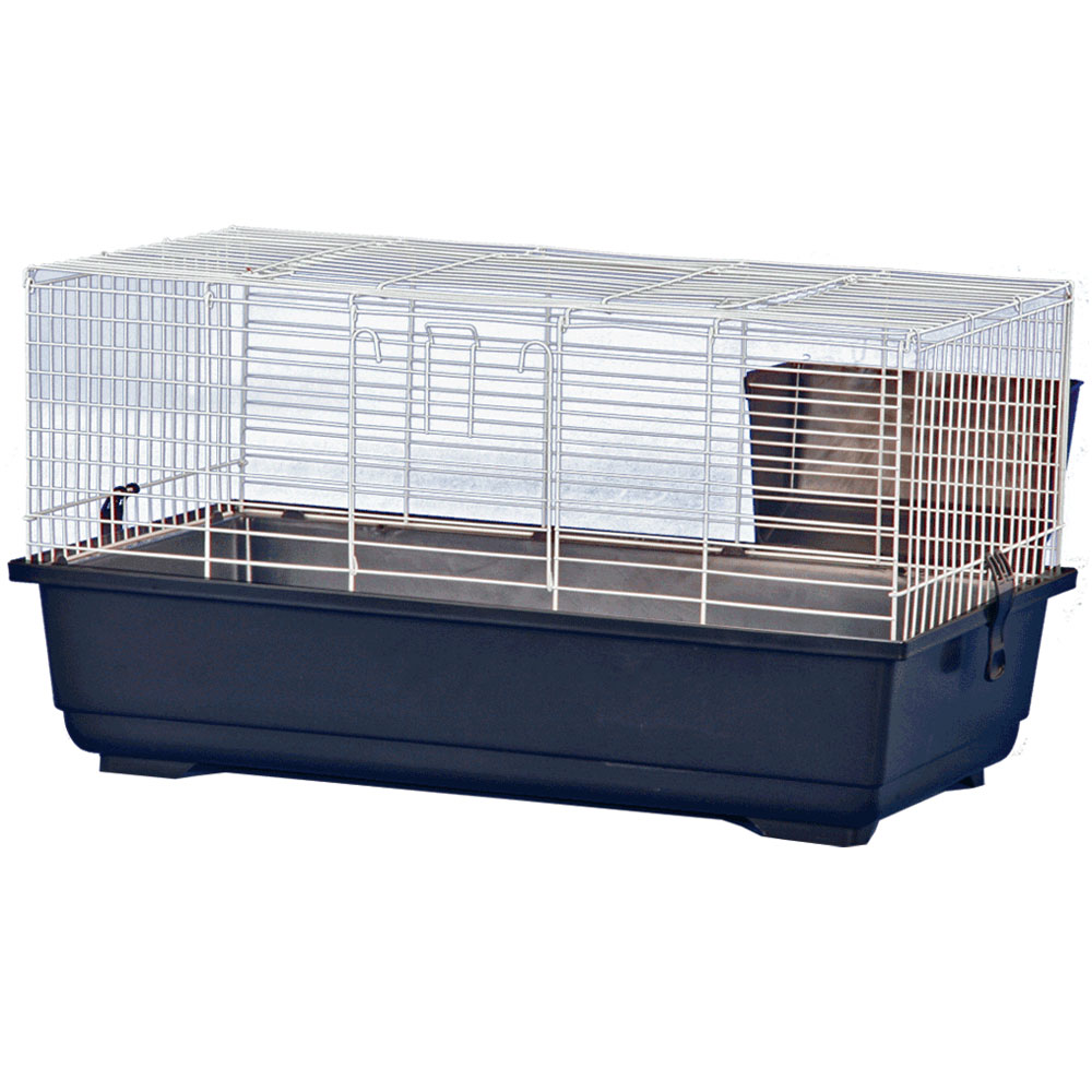 Rabbit Cage - Blue - 39x22x18 - from EntirelyPets