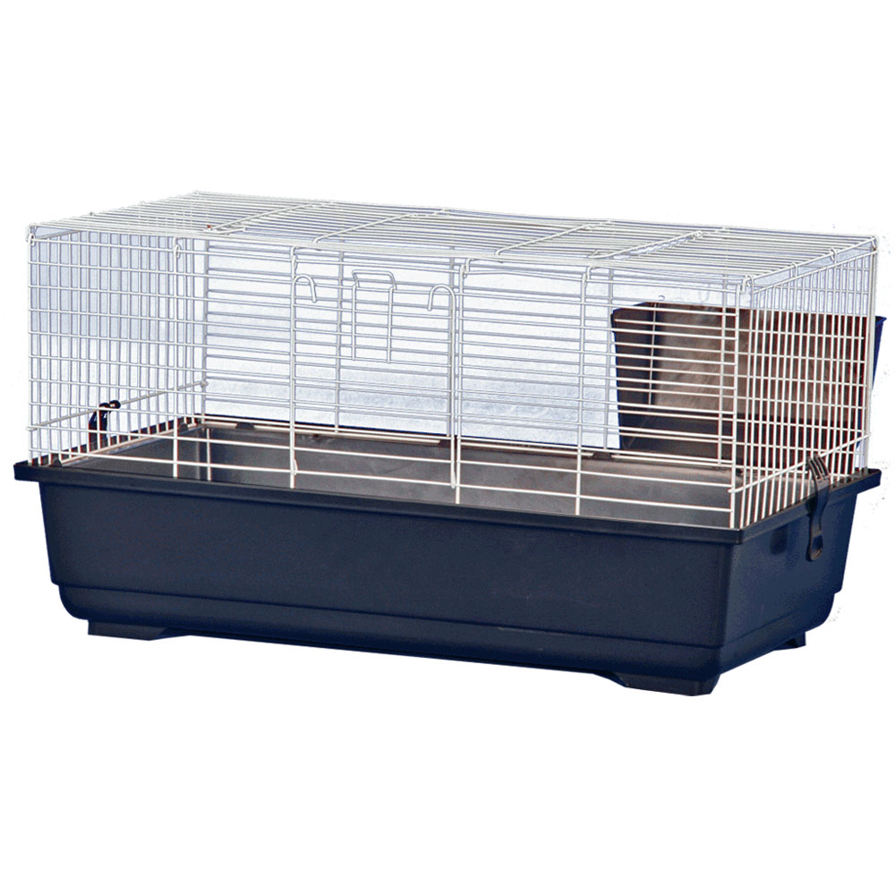 Rabbit Cage - Blue - 47x23x20 - from EntirelyPets