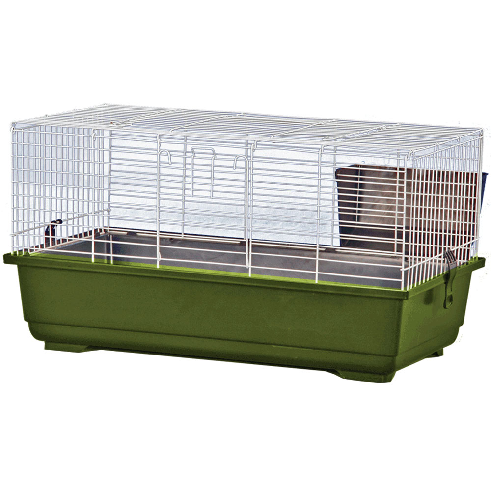 Rabbit Cage - Green - 39x22x18 - from EntirelyPets