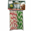 Ranch Rewards Holiday Rawhide Twists Dog Treats (20 Pack)