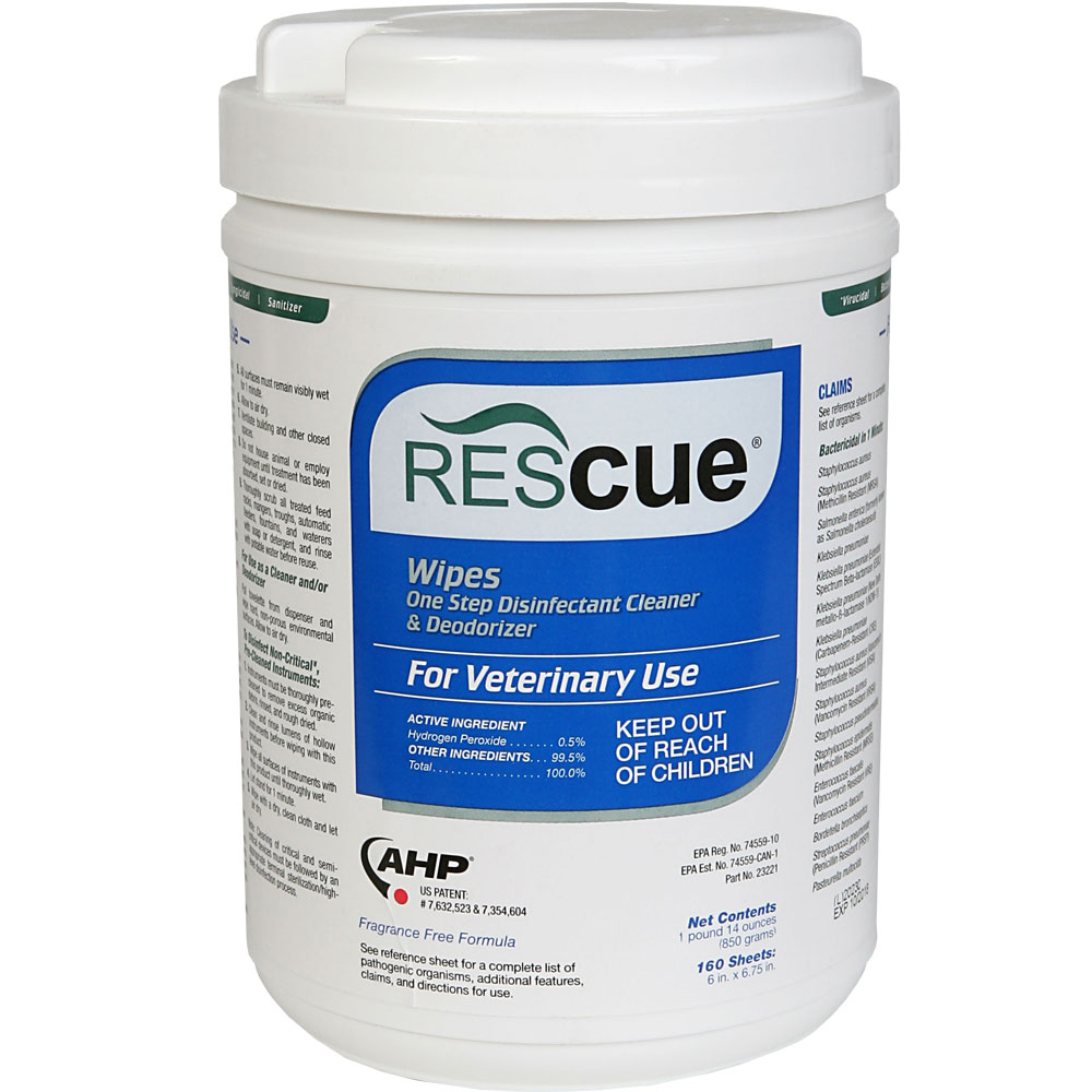 Rescue Disinfectant Wipes - 160 count - from EntirelyPets