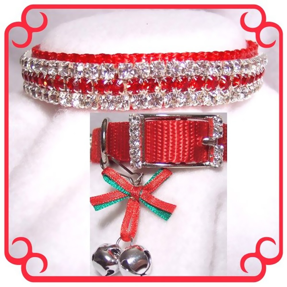 RHINESTONE-DOG-COLLARS-CHRISTMAS-BABY-SMALL