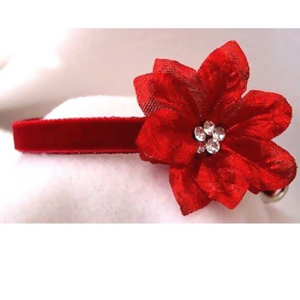 RHINESTONE-DOG-COLLARS-RED-VELVET-POINSETTIA-SMALL
