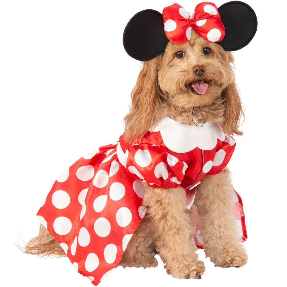 Image of Rubie's Minnie Mouse Dress Pet Costume - Medium - For Dogs - from EntirelyPets