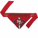 San Francisco 49ers Dog Bandana - Tie On (Large)