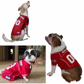 huge selection of 20bc7 63c0a San Francisco 49ers Dog Jersey - Small