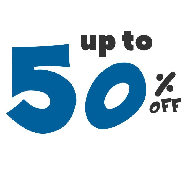 Save up to 50% off on these deals!