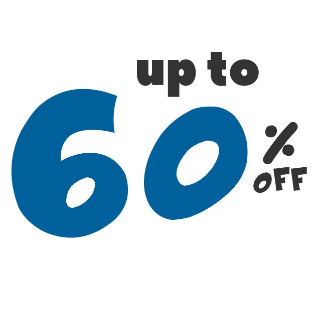 Save up to 60% off on these deals!