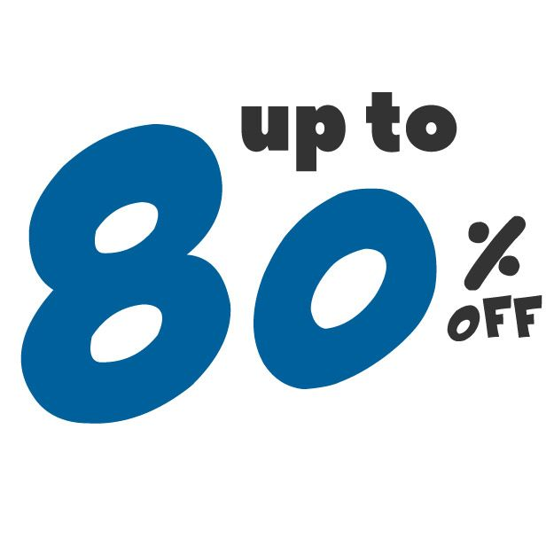 Save up to 80% off on these deals!