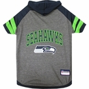 Seattle Seahawks Dog Hoody Tee Shirt - Small