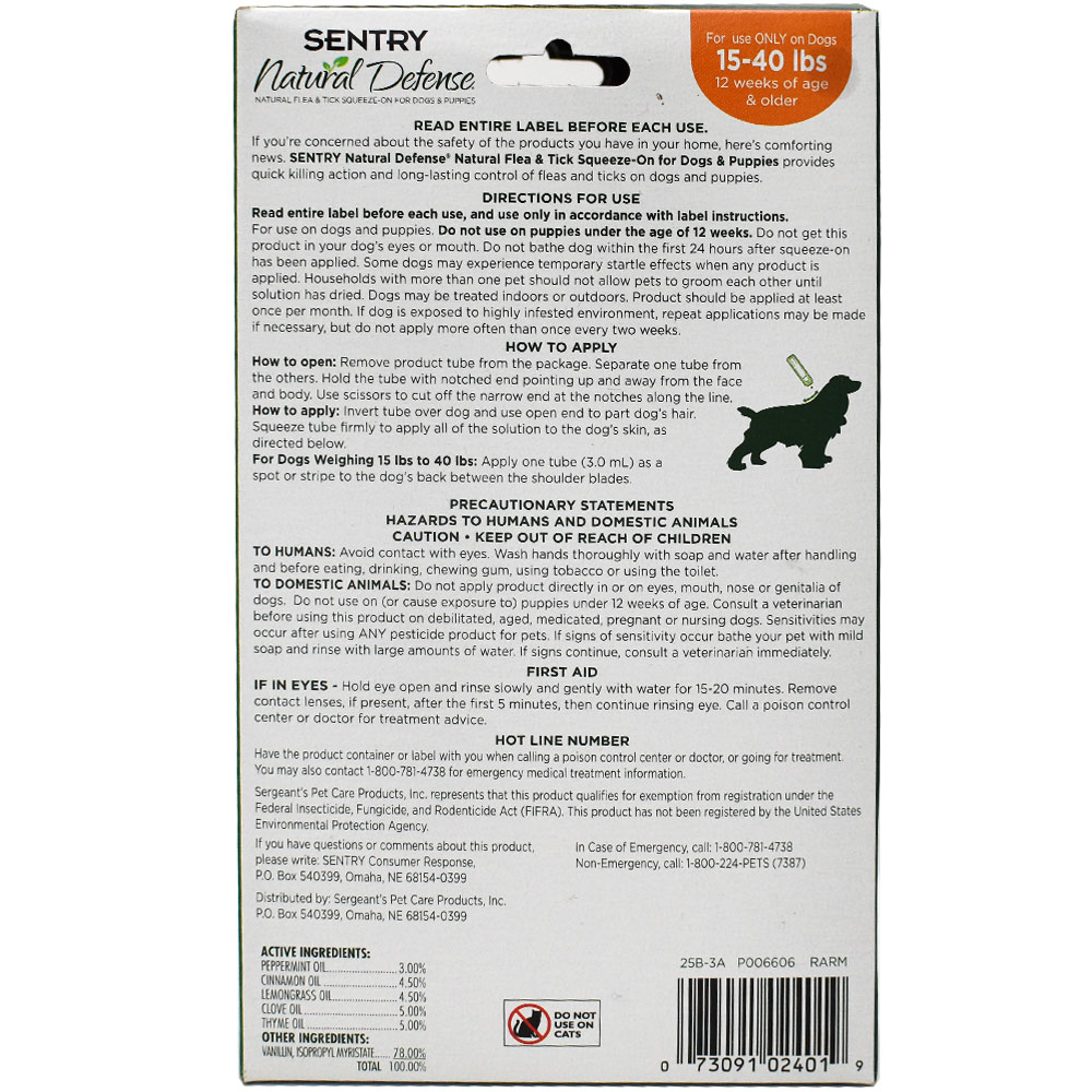 SENTRY-NATURAL-DEFENSE-FLEA-AND-TICK-SQUEEZE-ON-FOR-DOGS-15-40-LBS-4-PACK